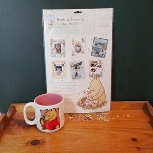 Disney Winnie The Pooh Coffee Cup + Scrapbook Kit